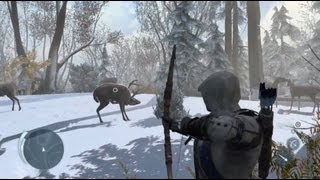 Assassins Creed III_ New Gameplay, HUD, Hunting, Battles.