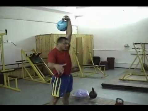 Fedor Fuglev demonstrates different  Snatch techniques Kettlebell Lifting Image 1