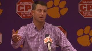 TigerNet: Swinney previews Syracuse, pt. 1
