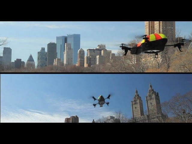 AR.Drone duel in Central Park - AR.FlyingAce FREE APP!