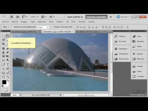 Curso de Photoshop CS5.  Ejercicio 6.1. Copiar y pegar selecciones.
