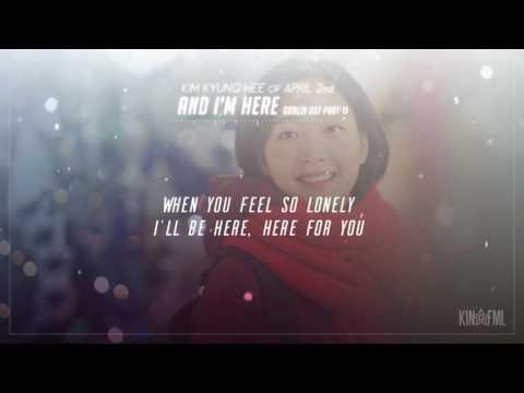 김경희 (Kim Kyung Hee) – And I'm Here Lyrics [도깨비 Goblin OST Part 11]
