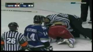 Steven Stamkos First Ever NHL Hockey Fight