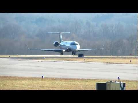 US Airways Express CRJ-200 Takeoff AVL