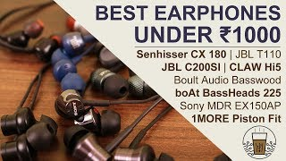 Best Budget Earphones You Can Buy Today Under Rs. 1000 | Hindi