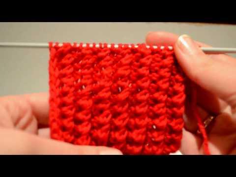Вязание ажурной резинки по кругу 47