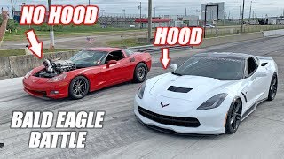 RUBY -vs- Bald Eagle Machine! Does Removing Your Hood Actually Make You Faster??