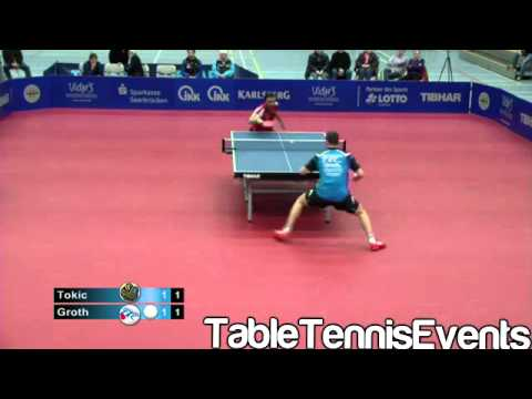 Bojan Tokic Vs Jonathan Groth: Match 3 [German League 2012/2013]