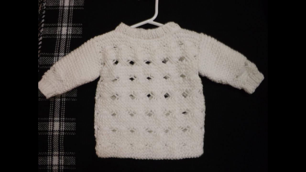 Como tejer su ter con punto cruzado parte 1 de 2 youtube - Tejer chaqueta bebe 6 meses ...