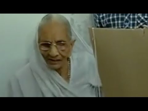 Narendra Modi's Mother cast her vote - Elections 2014
