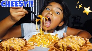 Epic *CHEESY* Chili Cheese Fries Mukbang + ⭐️TASTEE VOICEOVERS⭐️ | Chili Cheese Fries Eating Show