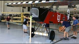 Fokker D-VII - Arrival and Assembly - Kermit Weeks