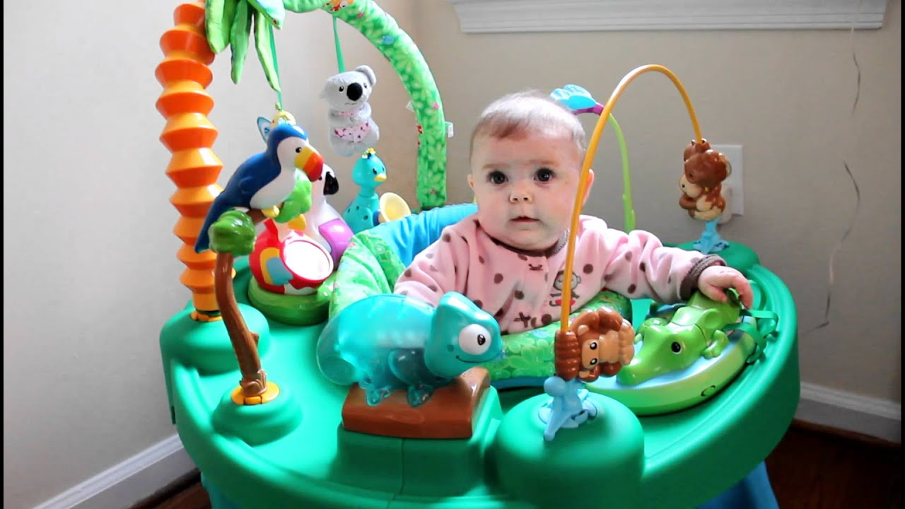 5 month old jungle baby activity center youtube. Black Bedroom Furniture Sets. Home Design Ideas