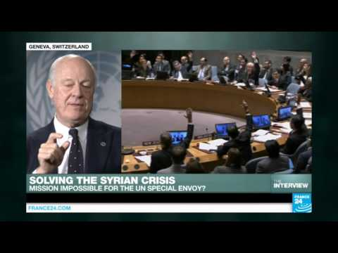 "Syria conflict: ""We may be getting to a political solution"" UN special envoy, Staffan de Mistura"