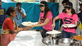 Amisha Patel Serving Food To Poor People
