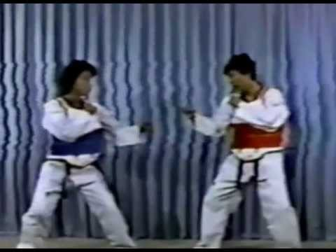 1980s WTF korea national team training taekwondo