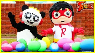Huge Mystery EGG HUNT for Easter with Red Titan Ryan from Ryan ToysReview