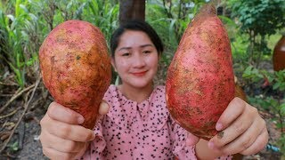 Tasty Crispy Sweet Potatoes Cooking Milk - Cooking With Sros