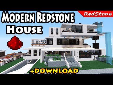 Minecraft: Modern Luxury Redstone House review + DOWNLOAD / Smart House /