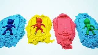 PRO Toys and Learn with PJ Masks Molds, Colors Pj Masks Play Doh Surprise Toys