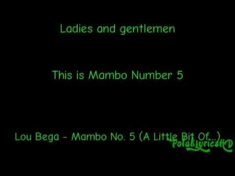 Lou Bega - Mambo No. 5 (A Little Bit Of...) Lyrics on Screen (HD) (4K)