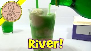 Green River Soda & Vanilla Ice Cream Float - St. Patrick