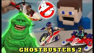 Ghostbusters 2 PLAYMOBIL Slimer Vehicle Playset Toy Stay Puft Marshmallow Man Unboxing Puppet Steve