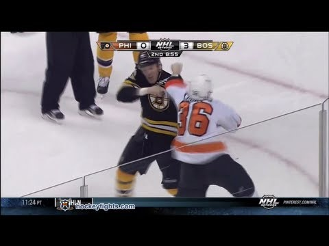 Zac Rinaldo vs Shawn Thornton Mar 9, 2013