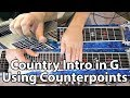 Country Intro in G Using Counterpoint Movements | Pedal Steel Guitar Lesson