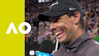 Rafael Nadal on-court interview (QF) | Australian Open 2019