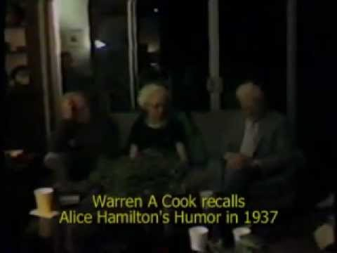 Alice Hamilton humor 1981 UNC oral history by Warren A Cook