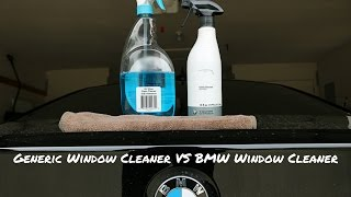 WINDEX VS BMW GLASS CLEANER