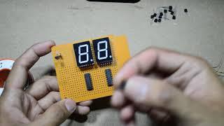 7 Segment counter menggunakan CD4026