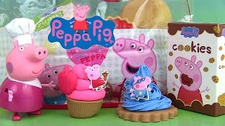 Peppa Pig Pretty Food Bag Play Doh Sac Goûter Gâteaux Cupcakes Chocolat Sweet Treats Pâte à modeler