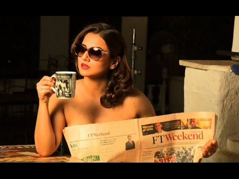 Vidya Balan's Topless HOT Photoshoot | Dabboo Ratnani Calendar Making - 2015 (Full Video)