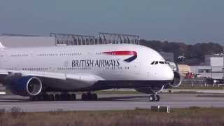 A380 British Airways-Testflug-Hamburg Finkenwerder-Airbus Werk-Airbus Group