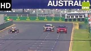 Red Bull F1 vs V8 Supercar vs C63 AMG