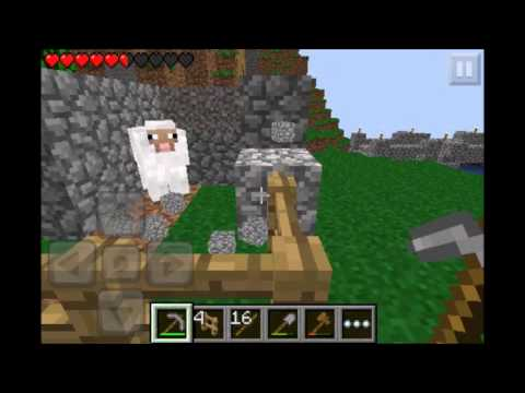 Minecraft: PE   Let's Play   Episode: 4 Mob Trap and Sheep Farrrrrrm!