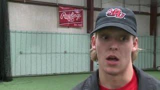 Zach Haefer full interview on signing with Davenport baseball on 11/14/18