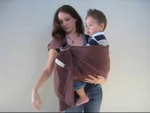 HIP CARRY 1: How to put a Young Baby or Toddler into a Hip Carry in a Ring Sling