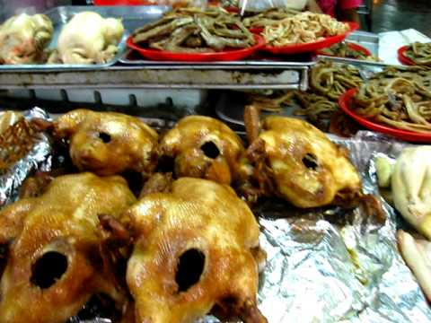 Walk through Chinatown Street Food Market Bangkok Thailand -