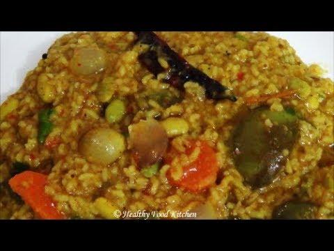 Bisi Bele Bath Recipe-Sambar Rice Recipe-Variety Rice Recipe By Healthy Food Kitchen