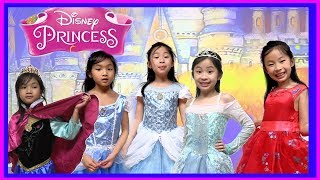 I MAILED MYSELF to Kaycee & Rachel in Wonderland and it WORKED! DISNEY PRINCESS FASHION SHOW - FunTV