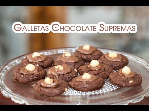 Galletas de Chocolate con Nutella y Avellanas Supremas