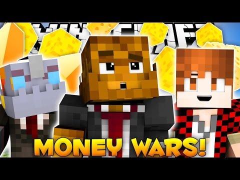 """Minecraft MY BEST ROUND OF MONEY WARS EVER """"Call Me Cheesus""""#4 w/ BajanCanadian & Nooch"""