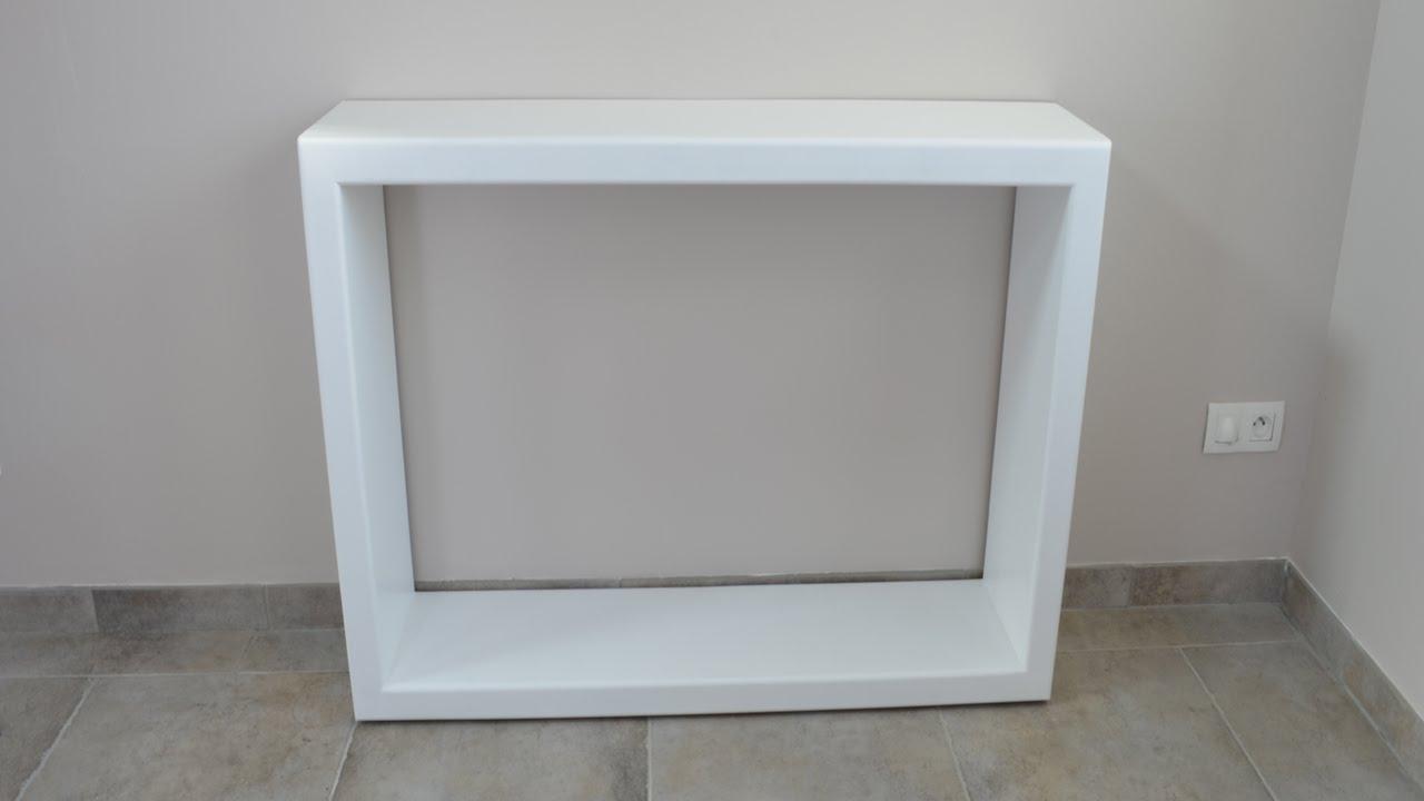 Foyer console vintage table de console de bois tv meuble for Table tv bois