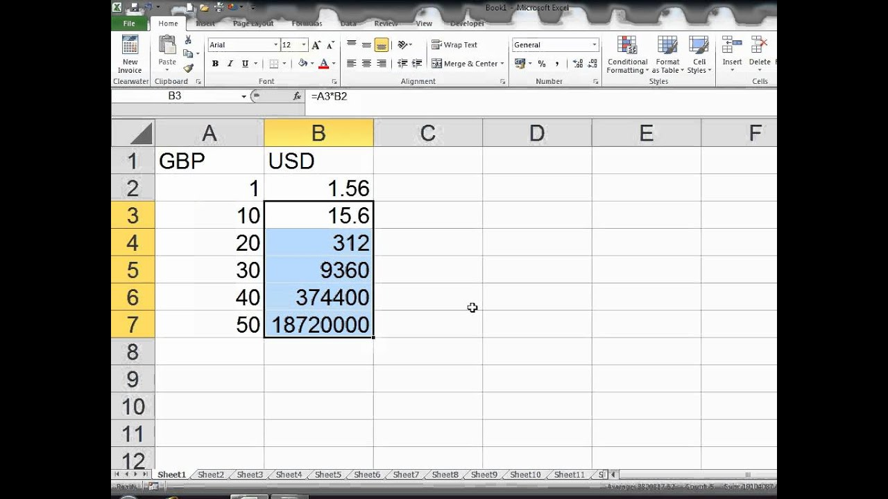 Live forex rates in excel