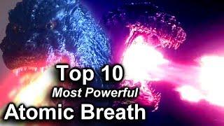 Top 10 Most Powerful Godzilla Atomic Breath Attacks! / Ranking Godzilla