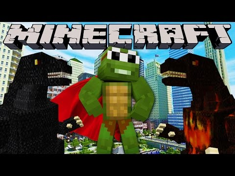 Minecraft City Destruction - Godzilla Attacks The City ! video