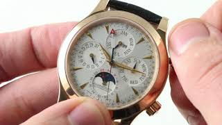 Jaeger-LeCoultre Master Grande Memovox (Alarm Perpetual Calendar) 146.2.95 Luxury Watch Review